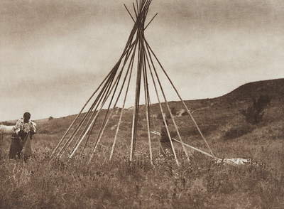 Tipi Construction (A) [Sioux] (Indians of North America, v. III. Cambridge, MA: The University Press, 1908)