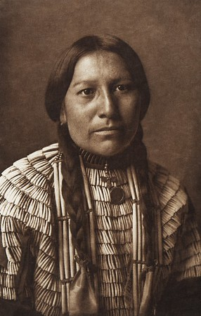 Daughter of American Horse [Ogalala Chief's Daughter] (Indians of North America, v. III. Cambridge, MA: The University Press, 1908)