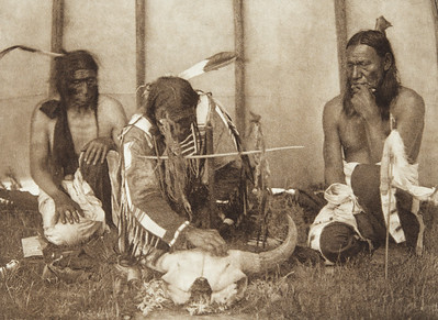 Huka-Lowapi - Painting the Skull [Sioux] (Indians of North America, v. III. Cambridge, MA: The University Press, 1908)