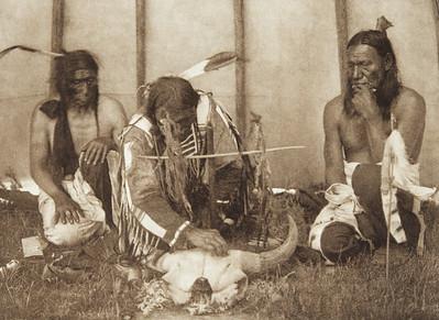 Huka-Lowapi - Painting the Skull [Sioux] (Indians of North America, v. III. Cambridge, MA: The University Press, 1908)