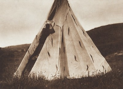 Tipi Construction (B) [Sioux] (Indians of North America, v. III. Cambridge, MA: The University Press, 1908)