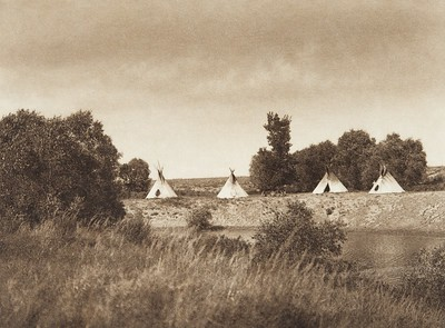 The Camp [Sioux] (Indians of North America, v. III. Cambridge, MA: The University Press, 1908)