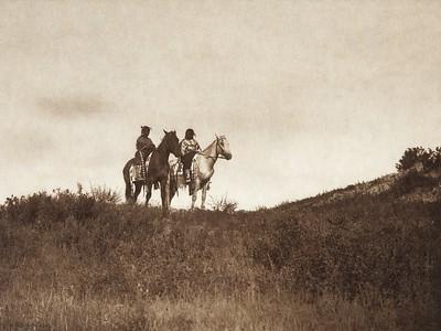Big Road's Twin Daughters - Ogalala (Indians of North America, v. III. Cambridge, MA: The University Press, 1908)