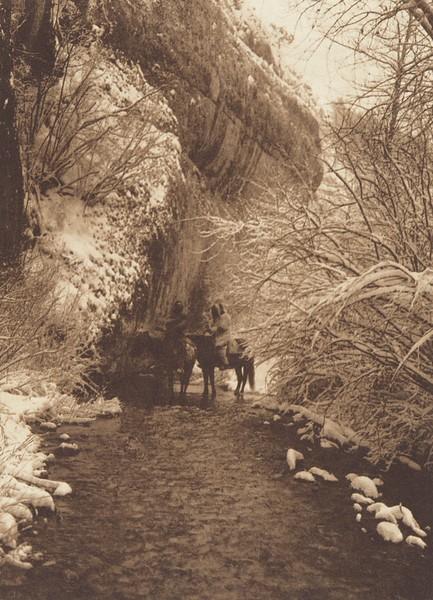 Approaching Winter - Apsaroke (Indians of North America, v. IV. Cambridge, MA: The University Press, 1909)