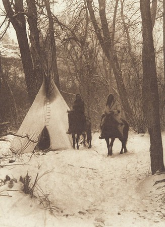 The Winter Camp - Apsaroke (Indians of North America, v. IV. Cambridge, MA: The University Press, 1909)