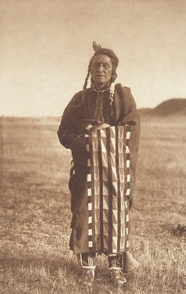 Hidatsa Man (Indians of North America, v. IV. Cambridge, MA: The University Press, 1909)