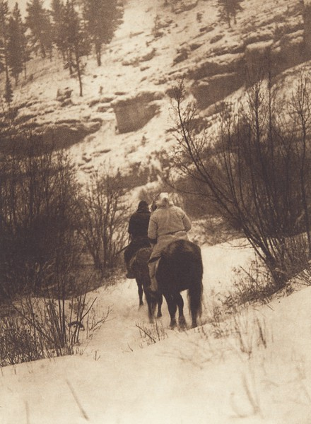 Winter Hunters - Apsaroke (Indians of North America, v. IV. Cambridge, MA: The University Press, 1909)