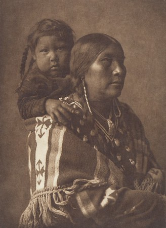Apsaroke Mother (Indians of North America, v. IV. Cambridge, MA: The University Press, 1909)
