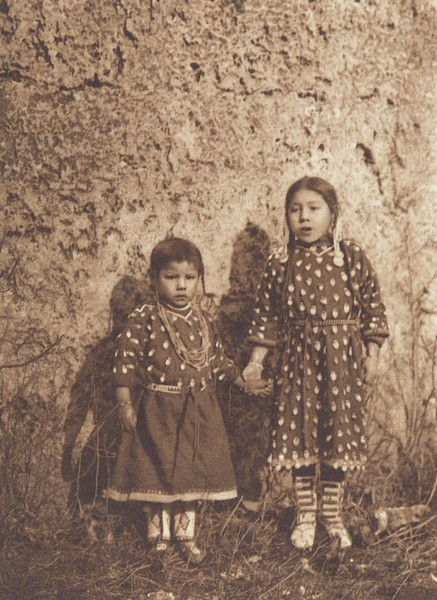 Sisters - Apsaroke (Indians of North America, v. IV. Cambridge, MA: The University Press, 1909)