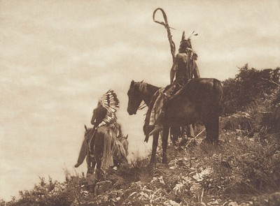 The Lookout - Apsaroke (Indians of North America, v. IV. Cambridge, MA: The University Press, 1909)