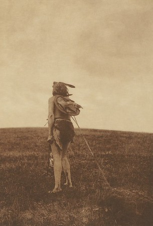 The Sun Dance Votary - Apsaroke (Indians of North America, v. IV. Cambridge, MA: The University Press, 1909)