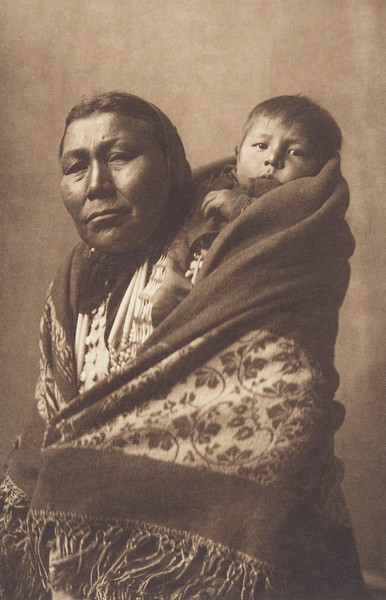 Hidatsa Mother (Indians of North America, v. IV. Cambridge, MA: The University Press, 1909)
