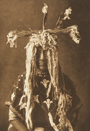 Substitute Sacred Head-Dress - Piegan (The North American Indian, v. VI. Cambridge, MA: The University Press, 1911)