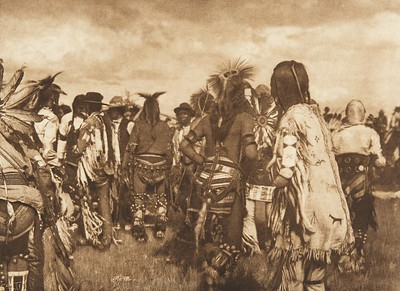 Piegan Dancers (The North American Indian, v. VI. Cambridge, MA: The University Press, 1911)