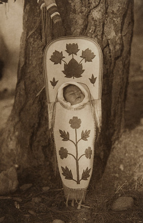 Flathead Baby-Carrier (The North American Indian, v. VII. Norwood, MA: The Plimpton Press, 1911)