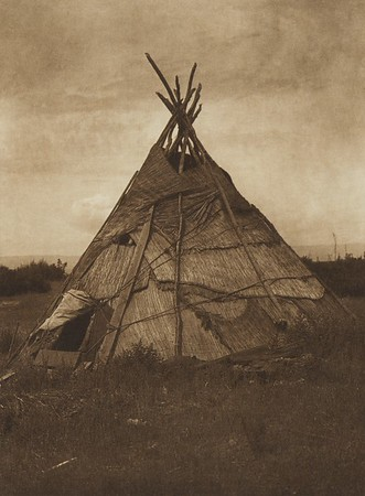 Mat Lodge - Yakima (The North American Indian, v. VII. Norwood, MA: The Plimpton Press, 1911)