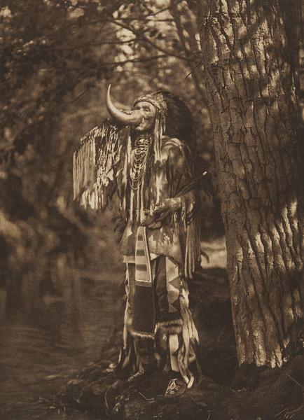 Flathead Warrior (The North American Indian, v. VII. Norwood, MA: The Plimpton Press, 1911)