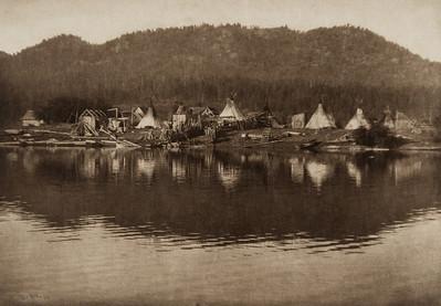 Kalispel Village (The North American Indian, v. VII. Norwood, MA: The Plimpton Press, 1911)