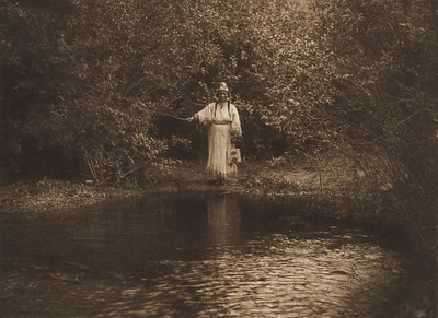 On Nespilim Creek [Flathead] (The North American Indian, v. VII. Norwood, MA: The Plimpton Press, 1911)