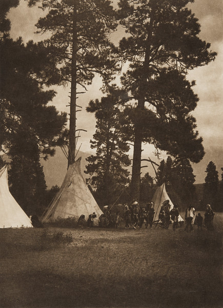 A Dance in the Forest - Flathead (The North American Indian, v. VII. Norwood, MA: The Plimpton Press, 1911)
