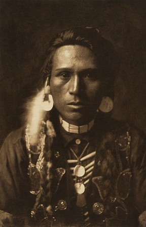 A Young  Yakima (The North American Indian, v. VII. Norwood, MA: The Plimpton Press, 1911)