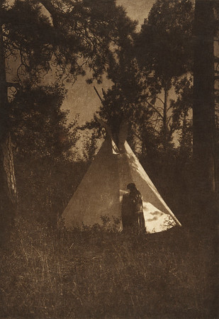 Camp in the Forest - Kutenai (The North American Indian, v. VII. Norwood, MA: The Plimpton Press, 1911)