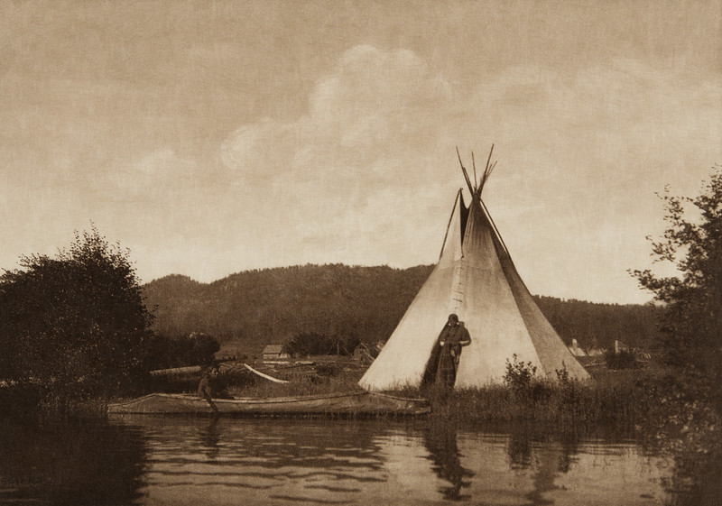 Kalispel Camp (The North American Indian, v. VII. Norwood, MA: The Plimpton Press, 1911)