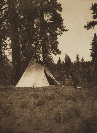 Author's Temporary Camp [Yakima] (The North American Indian, v. VII. Norwood, MA: The Plimpton Press, 1911)