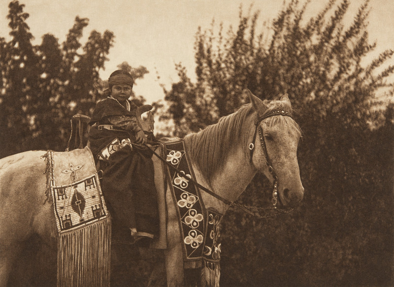 Learning to Ride - Cayuse (The North American Indian, v. VIII. Norwood, MA: The Plimpton Press, 1911)