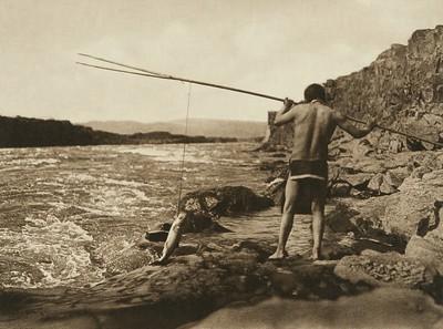 Salmon Fishing - Wishham (The North American Indian, v. VIII. Norwood, MA: The Plimpton Press, 1911)