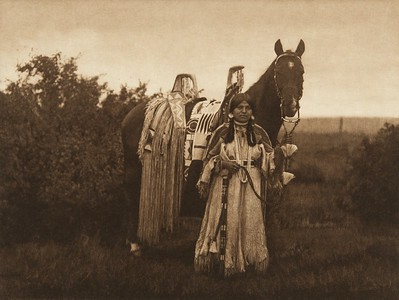 With Her Proudly Decked Horse - Cayuse (The North American Indian, v. VIII. Norwood, MA: The Plimpton Press, 1911)