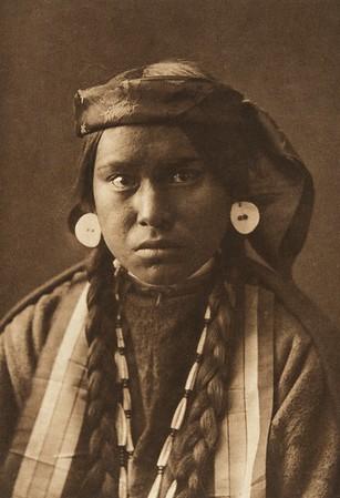 Nez Perce Girl (The North American Indian, v. VIII. Norwood, MA: The Plimpton Press, 1911)
