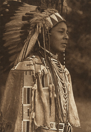 Youth in Holiday Costume - Umatilla (The North American Indian, v. VIII. Norwood, MA: The Plimpton Press, 1911)