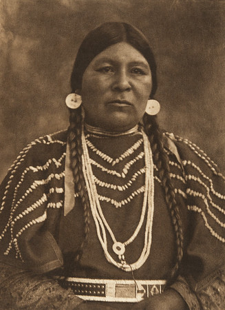 Cayuse Woman (The North American Indian, v. VIII. Norwood, MA: The Plimpton Press, 1911)