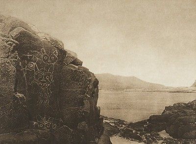 Petroglyphs - Wishham (The North American Indian, v. VIII. Norwood, MA: The Plimpton Press, 1911)