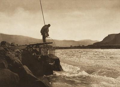 Wishham Fishing Platform (The North American Indian, v. VIII. Norwood, MA: The Plimpton Press, 1911)