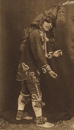 Warrior's Scalp Head-Dress - Cowichan (The North American Indian, v. IX. Norwood, MA: The Plimpton Press, 1913)