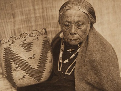 Basket Maker - Skokomish (The North American Indian, v. IX. Norwood, MA: The Plimpton Press, 1913)