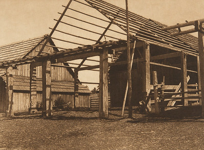 Cowichan Houseframe (The North American Indian, v. IX. Norwood, MA: The Plimpton Press, 1913)