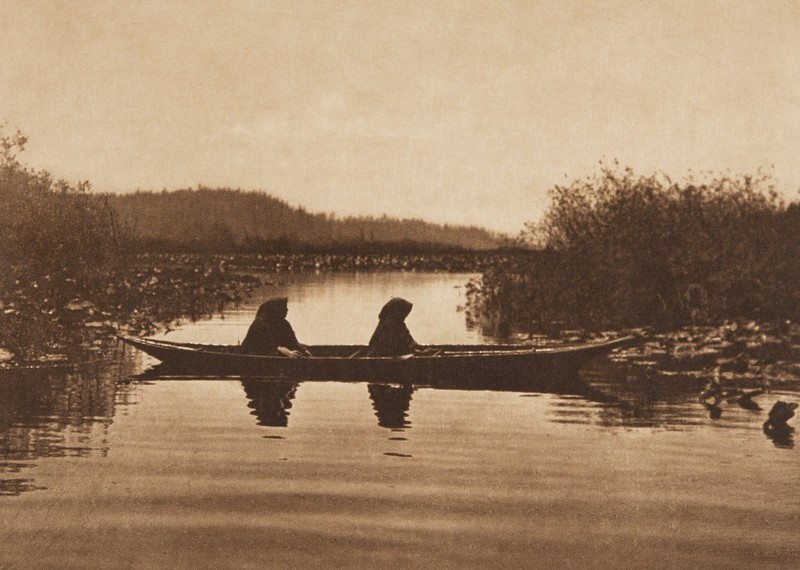 On the River - Puget Sound (The North American Indian, v. IX. Norwood, MA: The Plimpton Press, 1913)