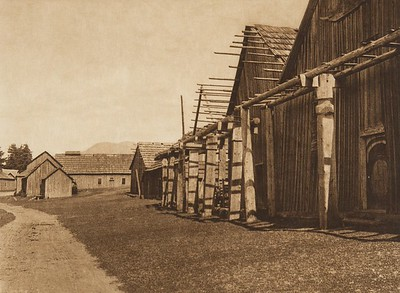 Qamutsun Village - Cowichan (The North American Indian, v. IX. Norwood, MA: The Plimpton Press, 1913)