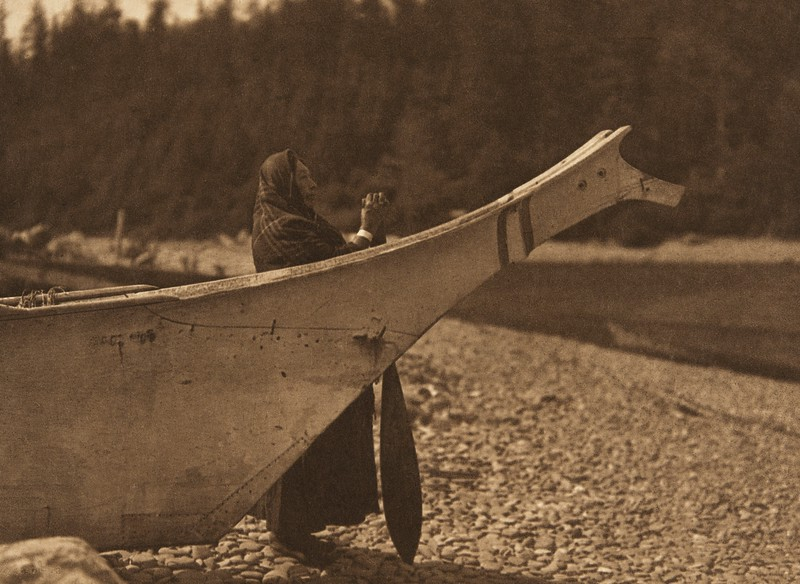 Watching for the Salmon - Quinault (The North American Indian, v. IX. Norwood, MA: The Plimpton Press, 1913)