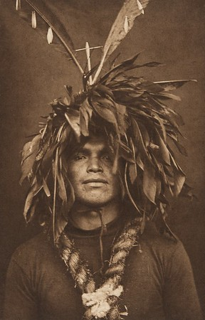 Warrior's Feather Head-Dress - Cowichan (The North American Indian, v. IX. Norwood, MA: The Plimpton Press, 1913)