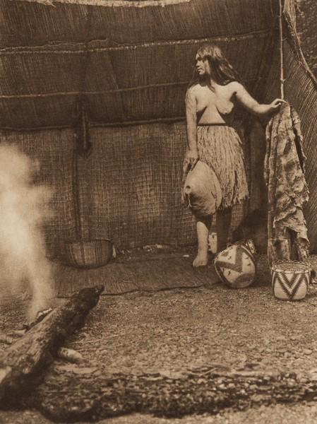 A Primitive Camp [Quinault] (The North American Indian, v. IX. Norwood, MA: The Plimpton Press, 1913)
