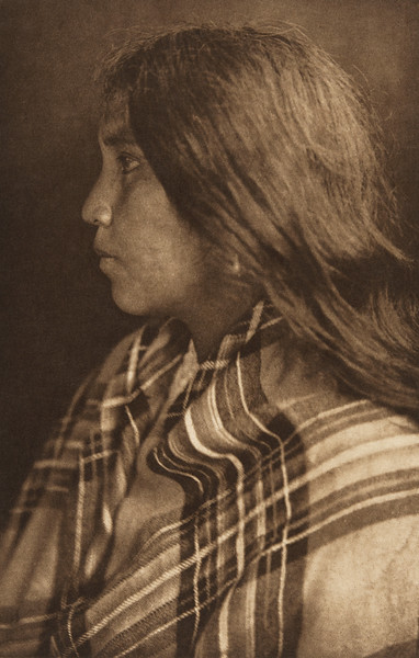 Quinault Girl (The North American Indian, v. IX. Norwood, MA: The Plimpton Press, 1913)