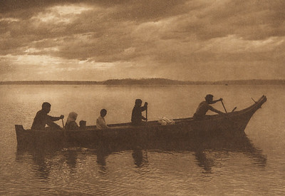 Family Party - Puget Sound (The North American Indian, v. IX. Norwood, MA: The Plimpton Press, 1913)