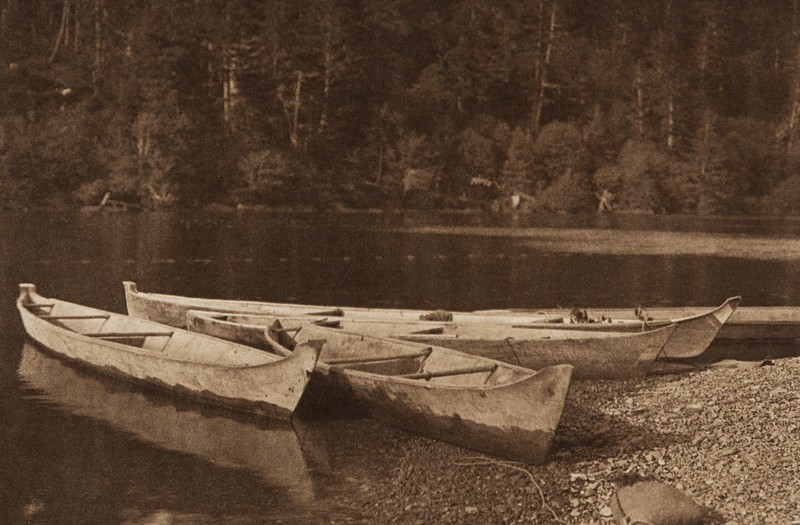River Canoes - Quinault (The North American Indian, v. IX. Norwood, MA: The Plimpton Press, 1913)