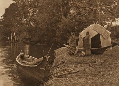 On the Skokomish River (The North American Indian, v. IX. Norwood, MA: The Plimpton Press, 1913)