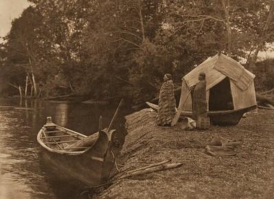 On the Skokomish River (The North American Indian, v. IX. Norwood, MA: The Plimpton Press, 1913)