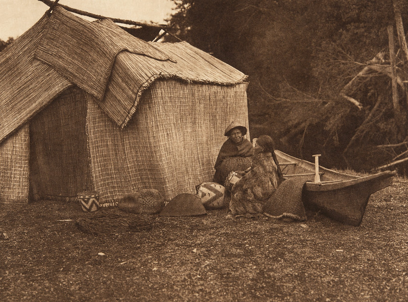 A Mat Shelter - Skokomish (The North American Indian, v. IX. Norwood, MA: The Plimpton Press, 1913)